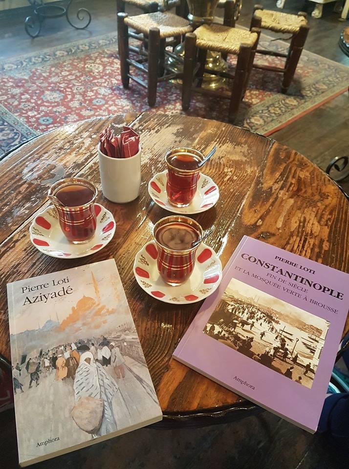 Le çay et j'ai trouvé deux livres P Loti en français.jpg