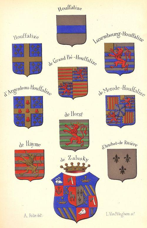 Blasons des seigneurs de Houffalize