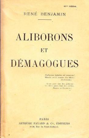 René Benjamin - Aliborons et démagogues.jpg