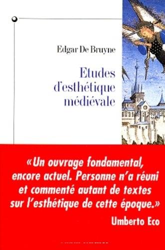 Edgar De Bruyne - Etudes d'esthétique médiévale .jpg