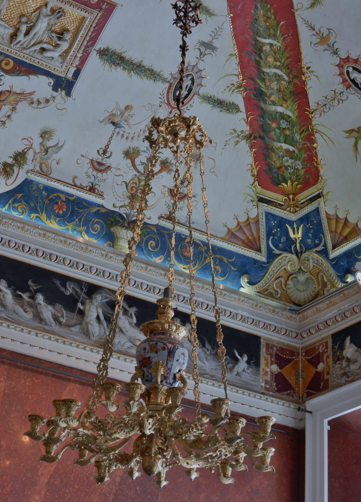 Italie plafond int rieur villa carlotta le voyage par for Le voyage interieur