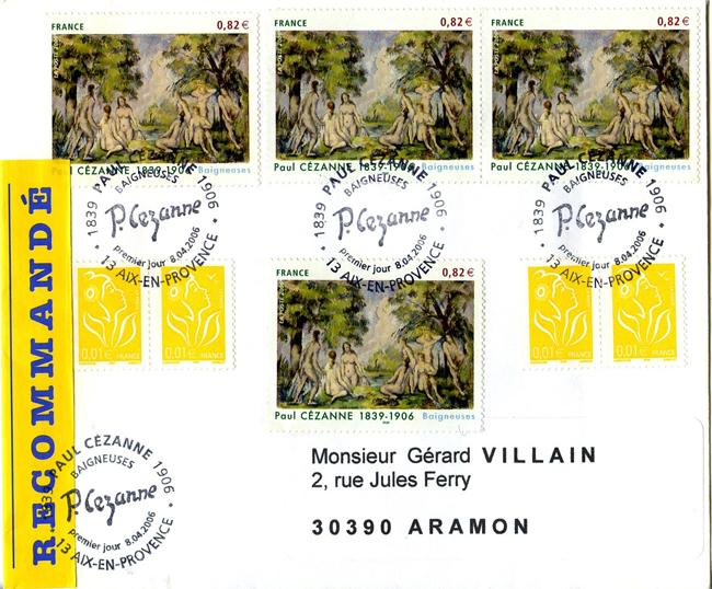 LR R1 50g taxée à 332 € Aix en Provence PJ 8 04 2006 Les Baigneuses de Cézanne.jpg