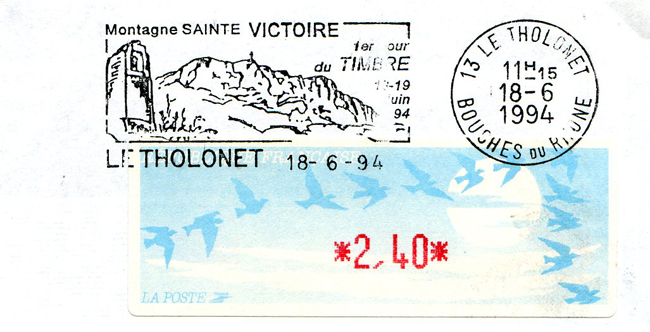 Le Tholonet Sécap Type 2 18 06 1994 avec affranchissement Lisa 240 F.jpg