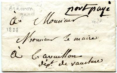 Port payé Aramon 14 mars 1828.jpg