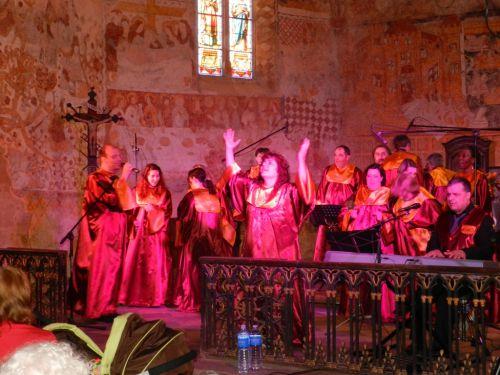 Peintures murales église Saint Laurent (concert Gospel du 13 Mai 2012)
