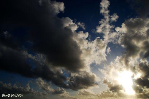 dans les nuages ciel de Guadeloupe