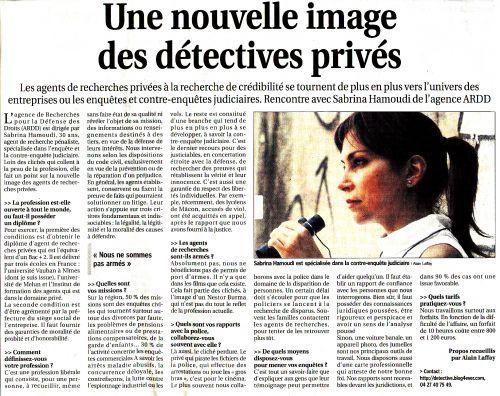 S.H. détective pénaliste
