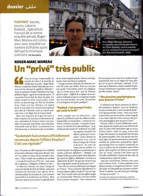 Portrait du criminaliste Roger-Marc Moreau