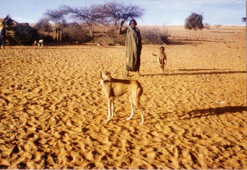 Dans un campement d'Iklan (esclaves touaregs) ayant migré dans le Gourma