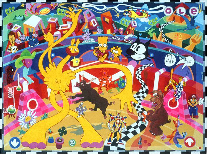 Queens De La Corrida - Acrylique sur toile - 60 x 80 cm