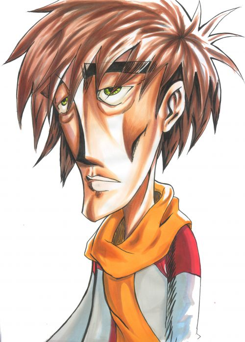 Un personnage d'une BD au feutre.