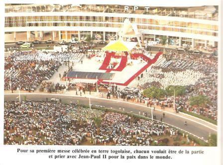 Jean Paul II au Togo sous la présidence d'Eyadéma