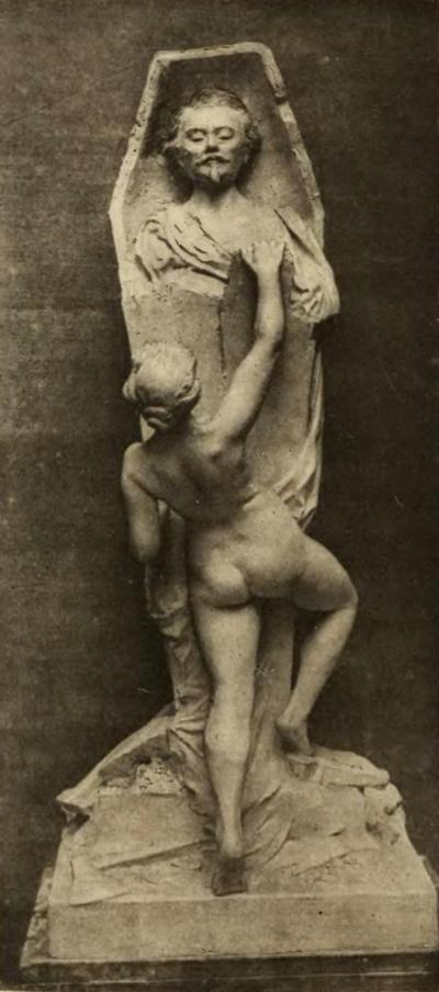 Sculpture de A.Blaizot (Resurrection Villiers de l'Isle-Adam 1906).png
