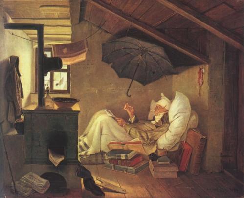 Peinture de Carl Spizweg (Le Pauvre Poète 1839).jpg