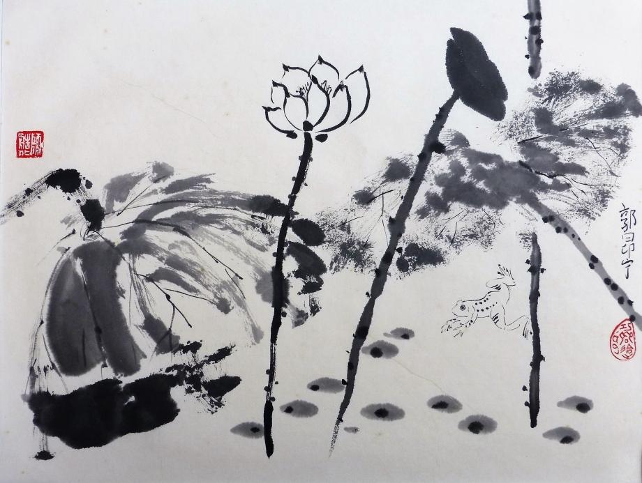 Lotus et grenouille.JPG