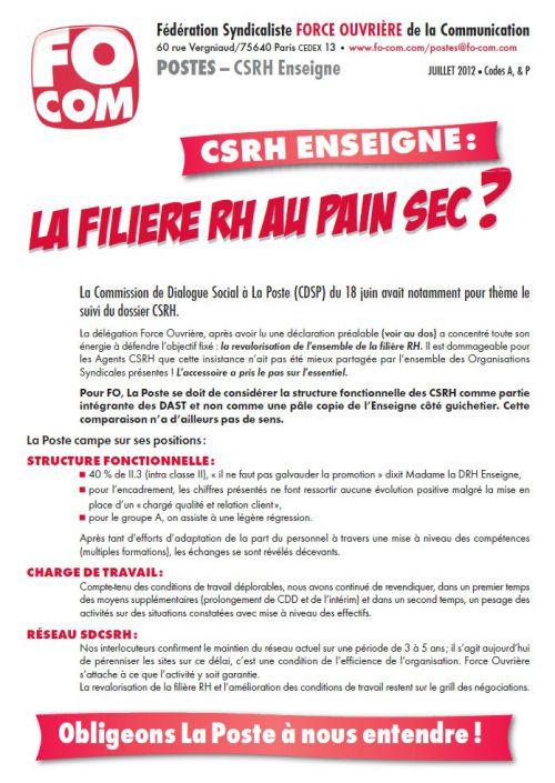 CSRH Enseigne