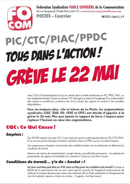PiC grève 22 mai 12
