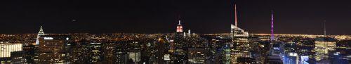 Vue de Manhattan prise du Top Of The Rock au Rockefeller Center
