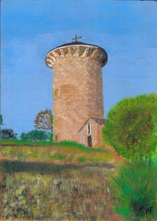 Le Chateau d'eau de Curan (Aveyron)