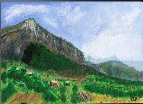 Le village de Rousset vu du Mont Soleil