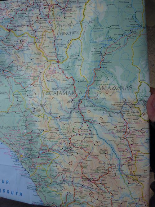 L'itineraire entre Loja et Chiclayo