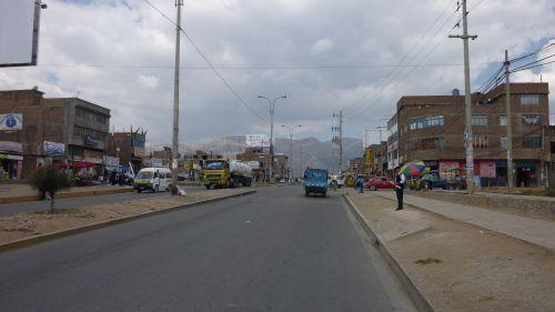 L'entrée de ville de Huancayo