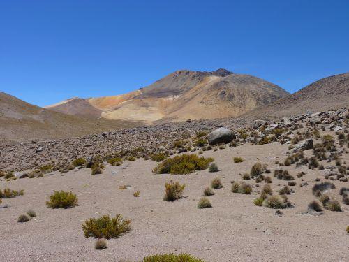 Un volcan en direction du col