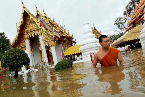 Inondations - temple sous l'eau