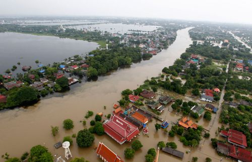 Inondations - vue du ciel