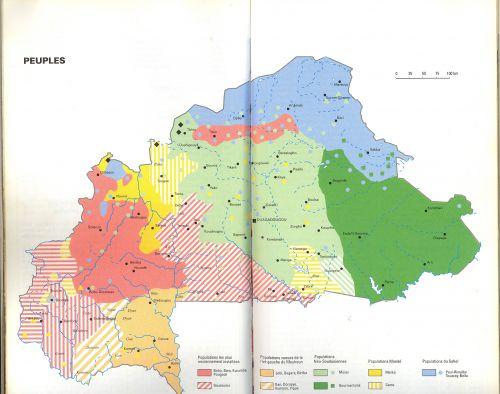 Carte ethnique du Burkina Faso