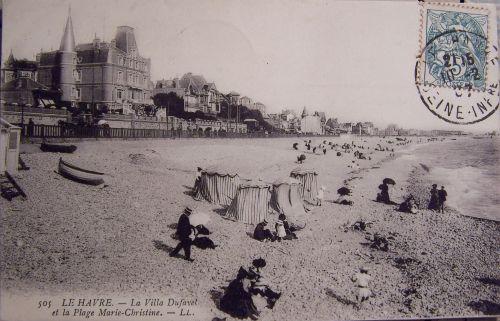 Le Havre - La villa Dufayel et la plage Marie Christine