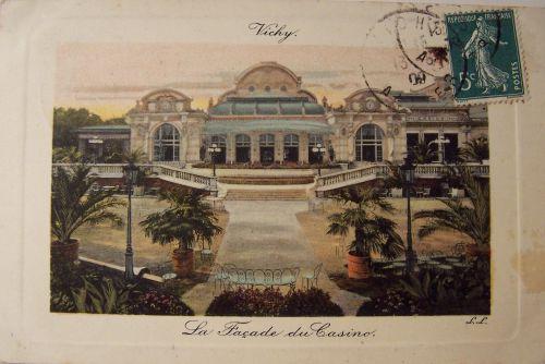 03 Vichy La façade du casino - colorisée-.