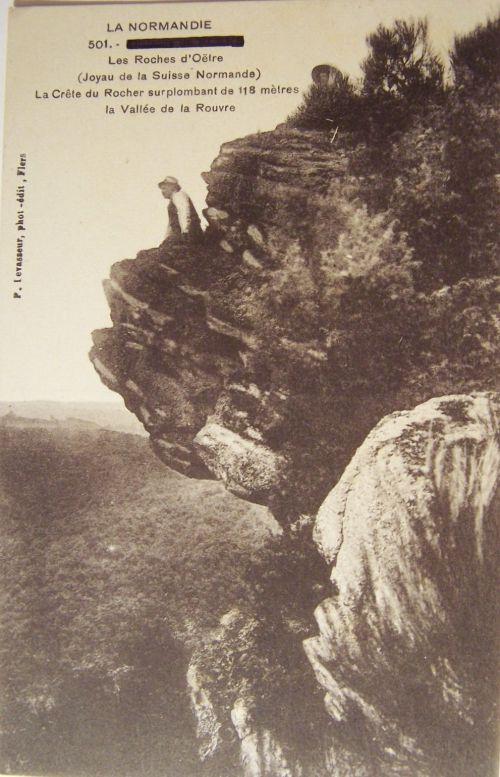 La roche d'Oëtre en suisse normande