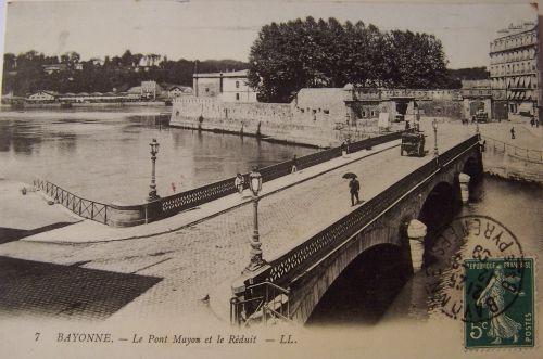 Bayonne - Le pont Mayou et le réduit