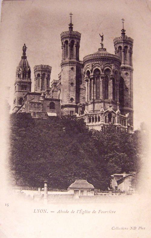 Lyon - Abside de l'église de Fourviére