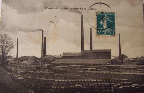 Montchain - Vue générale de la tuilerie