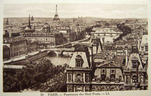 Paris - Panorama des huit ponts