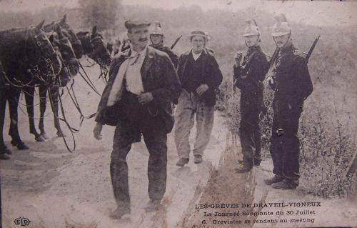 91 Draveil Vigneux gréves de 1908 -1