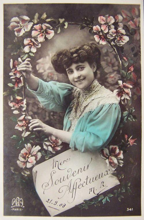 Merci et souvenir affectueux 1908