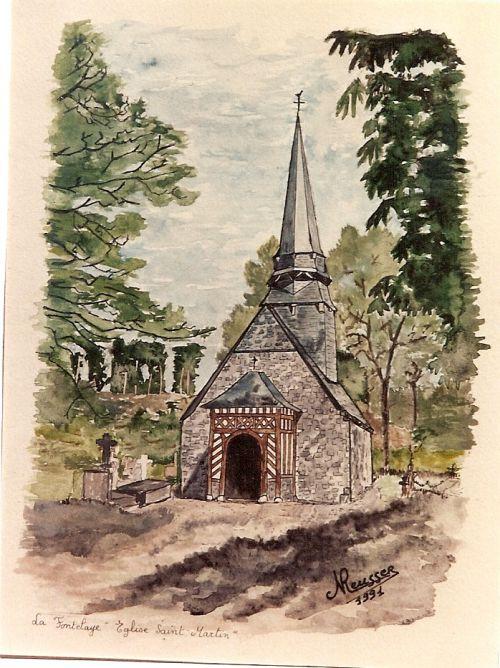 La Fontelaye, eglise Saint Martin