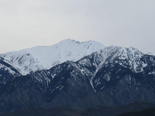 Face Nord du Canigou depuis Escaro
