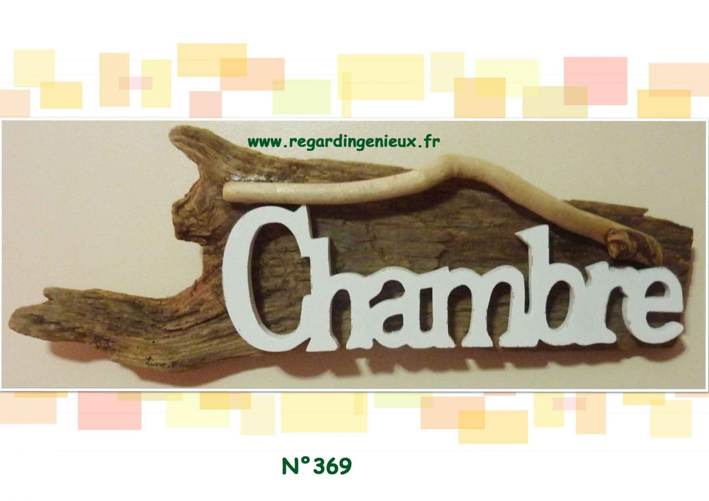 PLAQUE PHOTO/PLAQUE DE PORTE - creation de déco en bois flotté