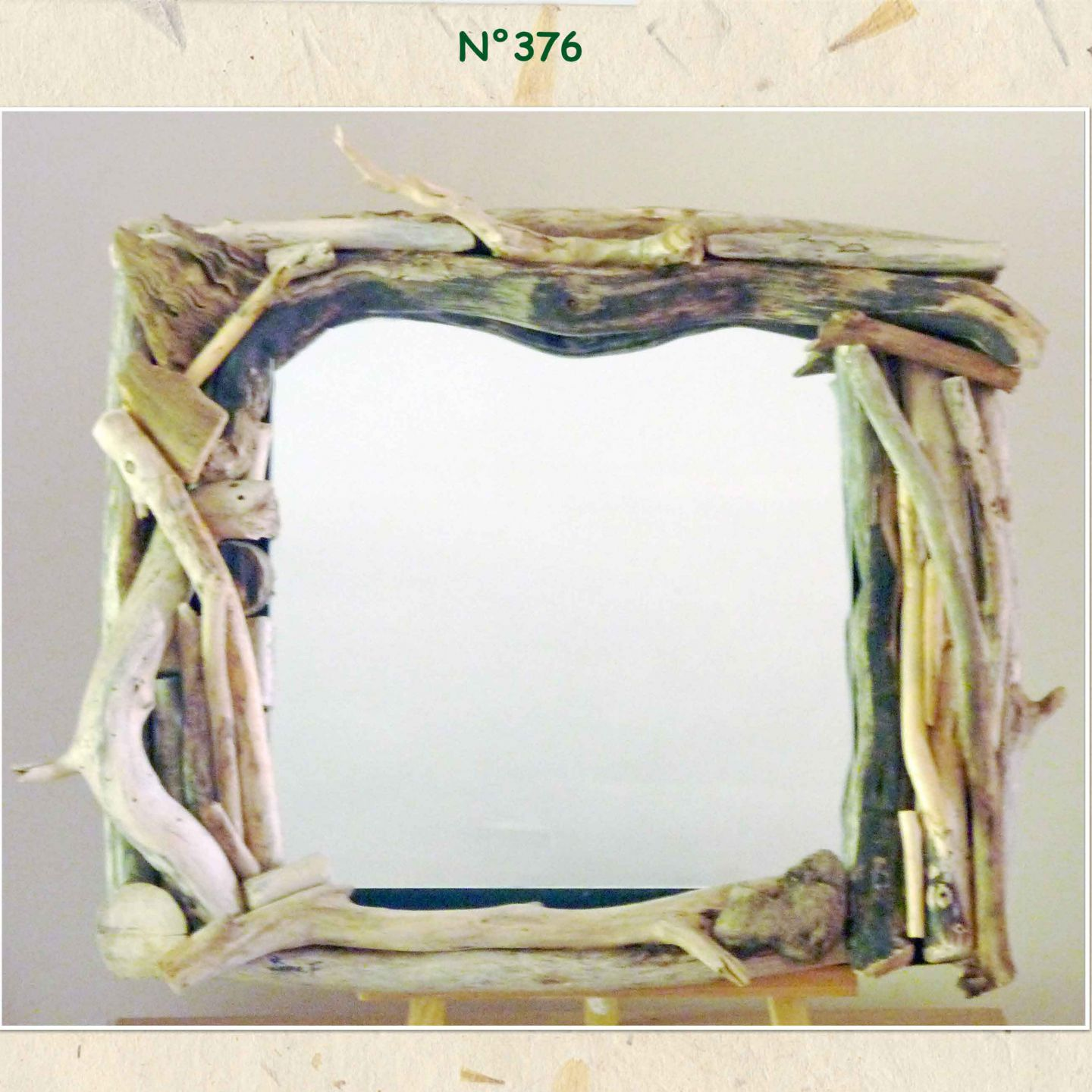 N 376 creation de d co en bois flott for Achat miroir bois flotte