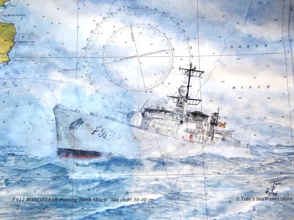 2014 'F912 WANDELAAR crossing North Minch'  Sea chart 30-40 cm.jpg