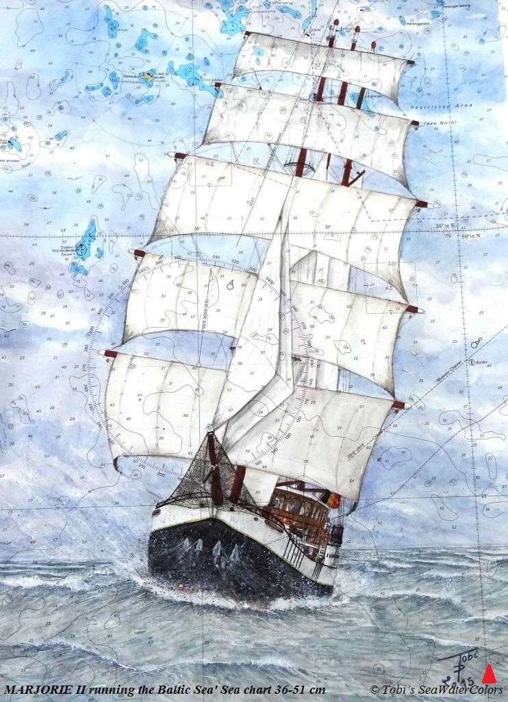 2015 'MARJORIE II running the Baltic Sea' Sea chart 36-51 cm.jpg