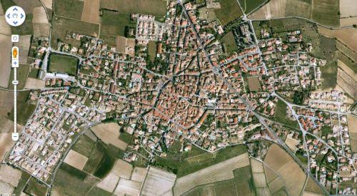 Vue aérienne d'Ouveillan