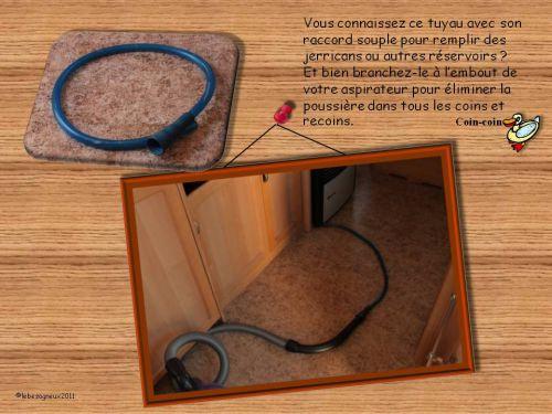 un truc pour faire la poussi re dans la caravane caravane. Black Bedroom Furniture Sets. Home Design Ideas