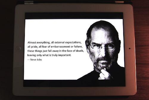 Steve Jobs sur mon iPad