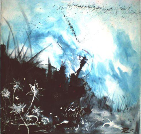 Peinture GOLF Romain Lecocq 100x100 cm