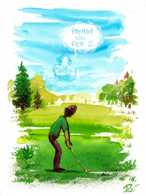 Illustration Golf